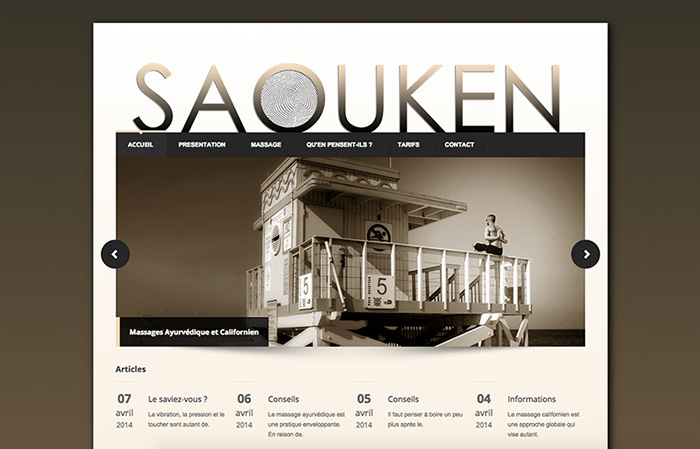 Conception site Web Saouken